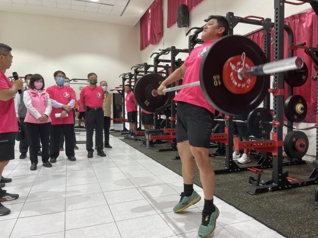 1091123充實肌力訓練器材,肌力體能教官團成軍儀式6