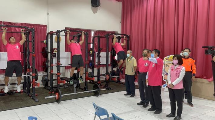 1091123充實肌力訓練器材,肌力體能教官團成軍儀式10