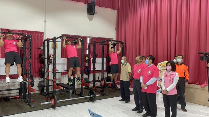 1091123充實肌力訓練器材,肌力體能教官團成軍儀式9