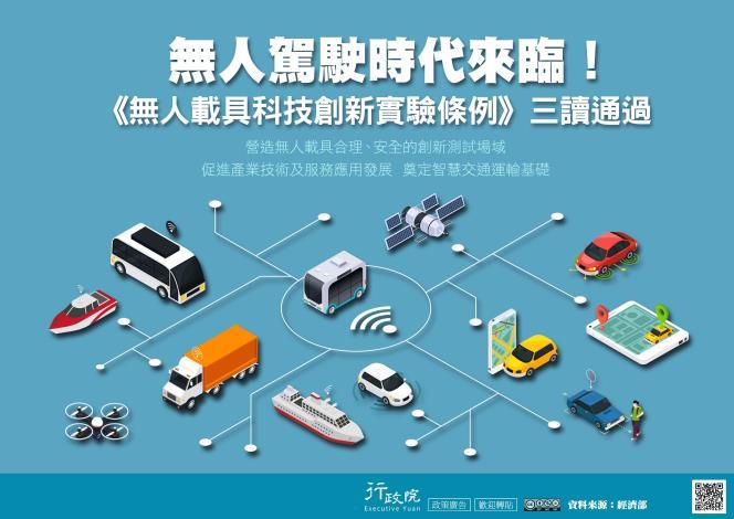 1080128-1080153627-行政院「無人駕駛時代來臨—無人載具科技創新實驗條例草案」政策溝通電子單張文宣。