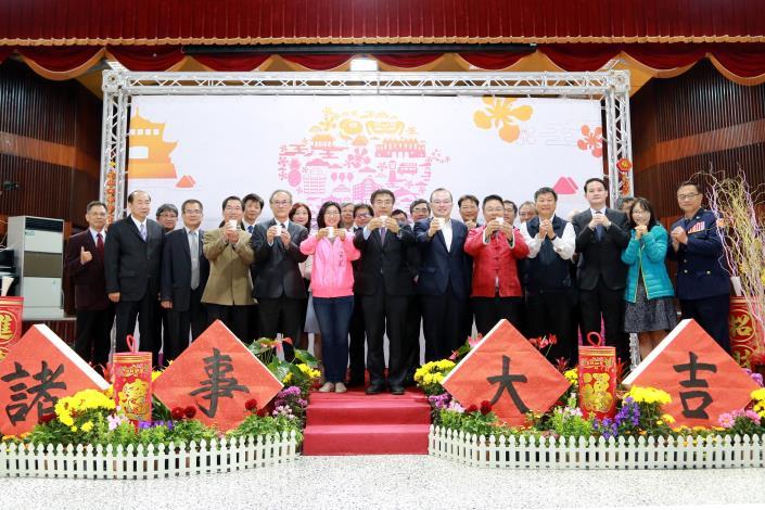 黃市長主持新春團拜 期許市府團隊新的年度全力投入推動市政工作(共4張)-1
