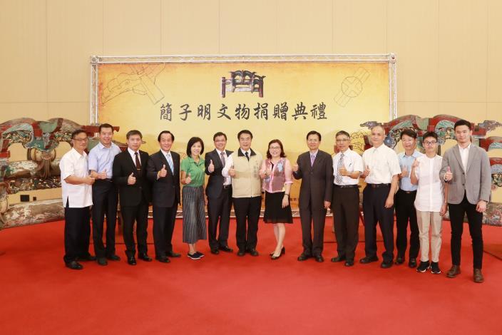 簡子明先生捐贈市府二組木棟架  台中保安宮舊料將於台南新生巡展   (共4張)-1