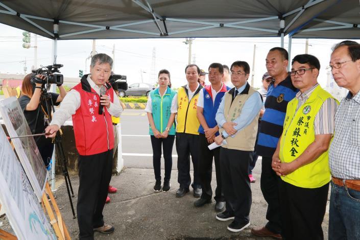 颱風季來臨   市長視察南市各抽水站及部落防護工程(共9張)-1