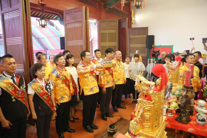 延平王鄭成功395週年聖誕祭典 黃市長主祭 恭祝成功祖聖壽無疆(共4張)-1