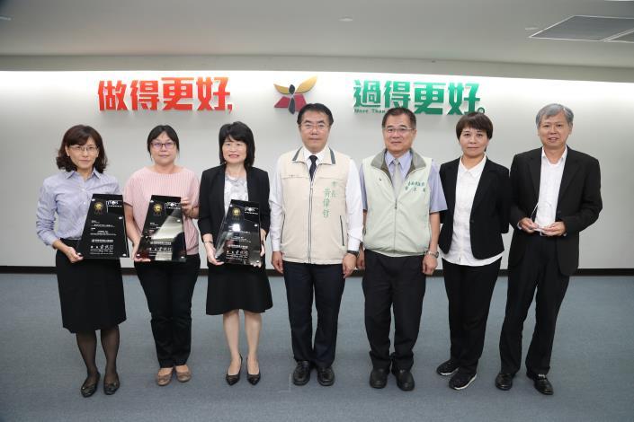 臺南市政府團隊表現有目共睹 勞工局、公務人力發展中心、水利局拔頭籌