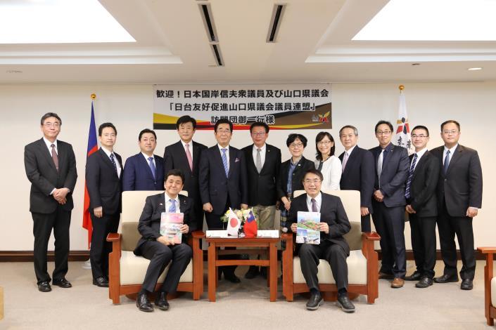 日本眾議員岸信夫率山口縣議員再訪臺南 黃偉哲市長期待兩地關係升溫(共7張)-1