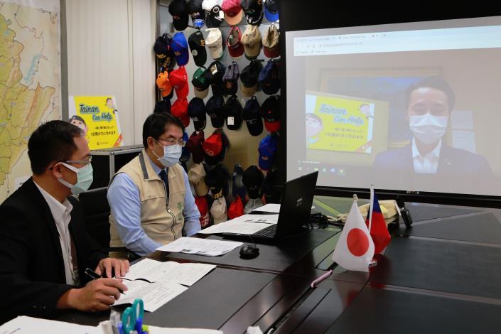 只要有心,國際交流不停歇!黃偉哲市長與日本山形市長空中視訊相見歡!(共2張)-1