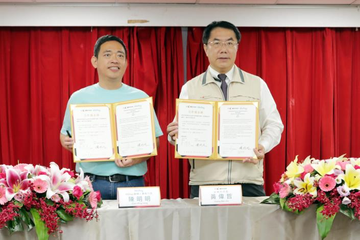 發揮1+1大於2效應 台南與知名旅遊預訂平台KKday簽訂MOU           黃偉哲:台南就是理性的、深度旅遊最優選的城市之一(共3張)-1