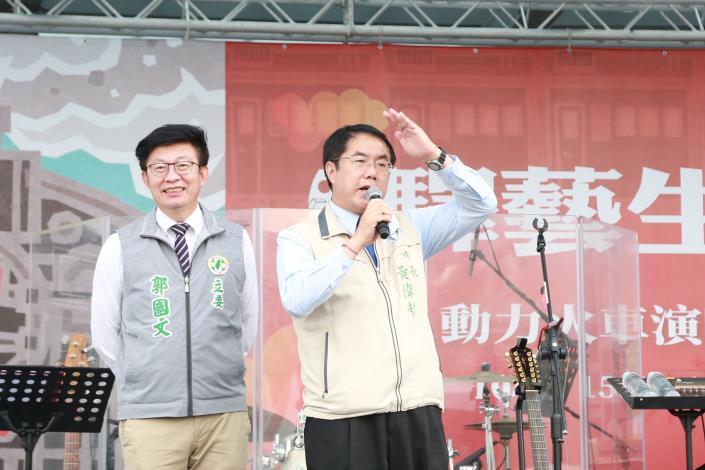 市長請大家一起來台南追火車、逛市集及看表演