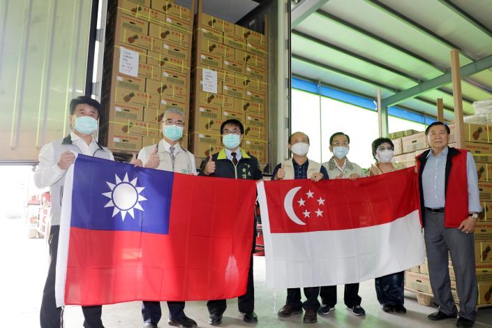 黃偉哲支持台灣鳳梨組國家隊 國產鳳梨 25公噸輸往新加坡(共5張)-1