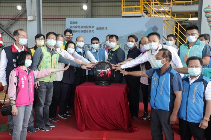 廚餘高速發酵廠+環保車 黃偉哲:台南環保服務品質邁向新里程碑(共11張)-1