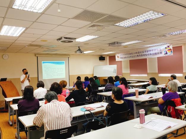 南市社會局辦理據點及醫事C志工教育訓練 逾800人次踴躍參訓(共2張)-1
