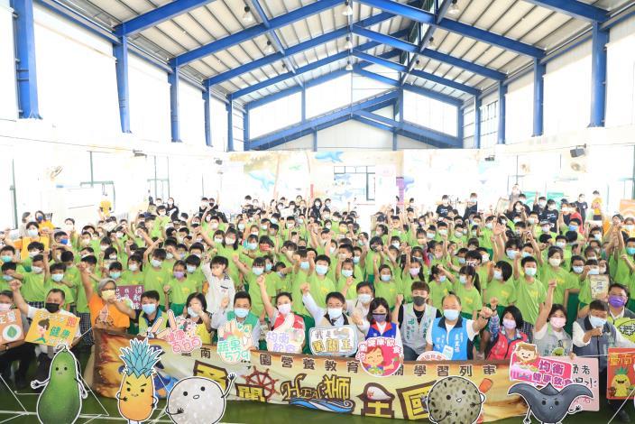台南首推校園營養教育巡迴列車正式啟動 黃偉哲帶隊闖關吃出健康快樂成長(共6張)-1