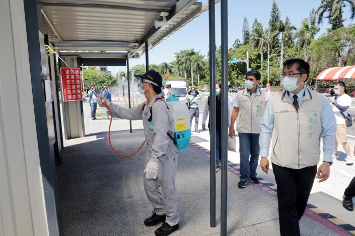 0515台南轉運站消毒01