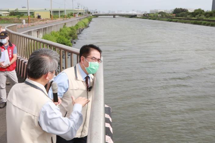市長巡查防颱及防疫工作確保民眾安全