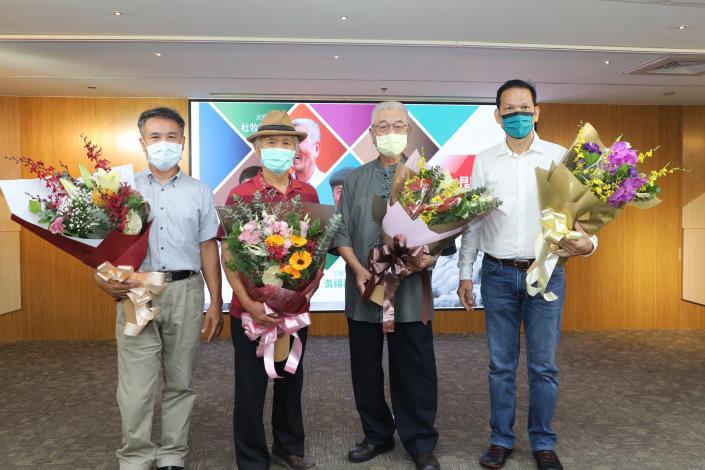 IMG_7167恭賀(左至右) 黃福壽、陳三火、杜牧河、蔡德太等四位藝師獲文化部「重要傳統工藝