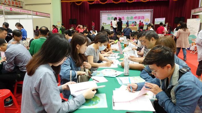 勞工局「台南過生活 台南呷頭路」就博會於南臺科大登場 媒合率五成(共8張)-1