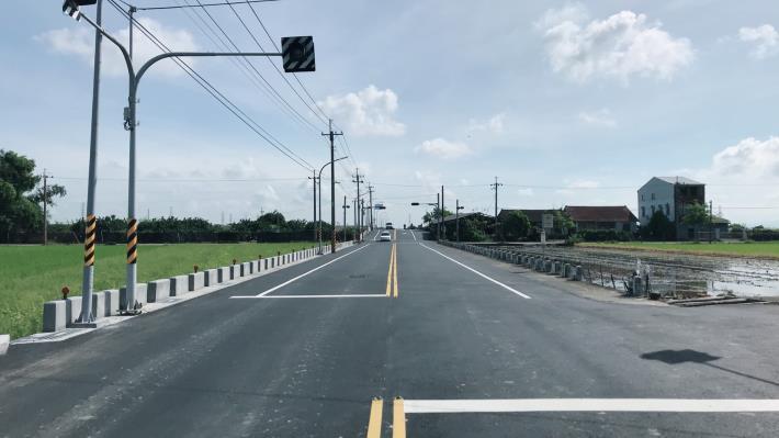 下營區南69線火燒珠橋瓶頸市府完成引道拓寬-路口