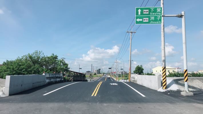 下營區南69線火燒珠橋瓶頸市府完成引道拓寬-火燒珠橋