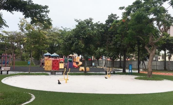 水萍塭公園兒童遊樂區跳脫「罐頭式」枷鎖添童趣-玩沙區