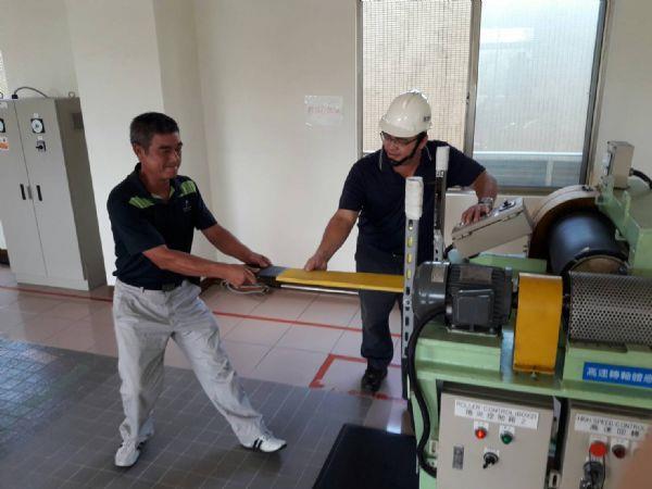 1070907金百利克拉克家族教育訓練-中鋼工安體感訓練場參訪-機械𢰪夾危害體感