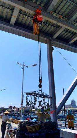 北門漁港吊蚵設施(一)
