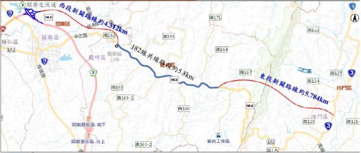 台86線向東延伸至台3線道路新闢案過關 再添交通效益-地圖標示台86到台3區域