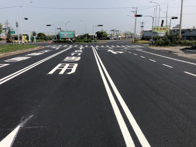 完成國道1號安定交流道聯絡道(市道178)路平專案改善照片