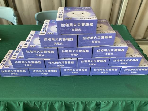 府城七家廠商聯合捐贈臺南市政府消防局住宅用火災警報器11,400只儀式(共5張)-1