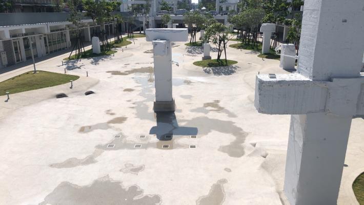 河樂廣場親水池 5月6日起抗旱暫停戲水(共2張)-1