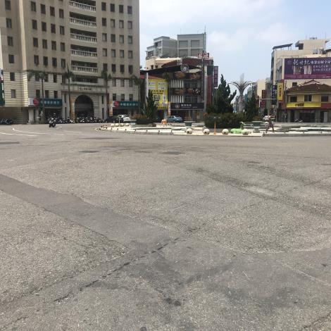 新營區火車站圓環周邊道路  5月18日起進行路平改善工程-施工前照片