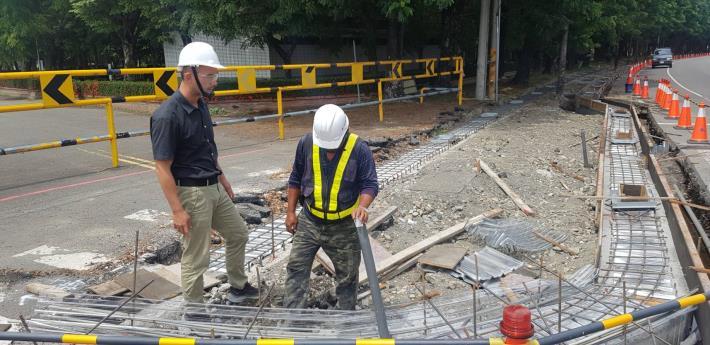 梅雨來臨前,市府工務局啟動巡檢在建工程機制