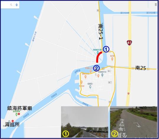 鹽豐橋至鎮海將軍廟段道路拓寬GOOGLE地圖