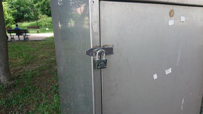 電箱上鎖以防