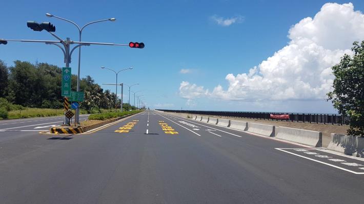 濱南路全線完成路平工程