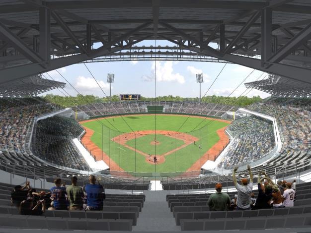 主球場內野上層看台透視圖
