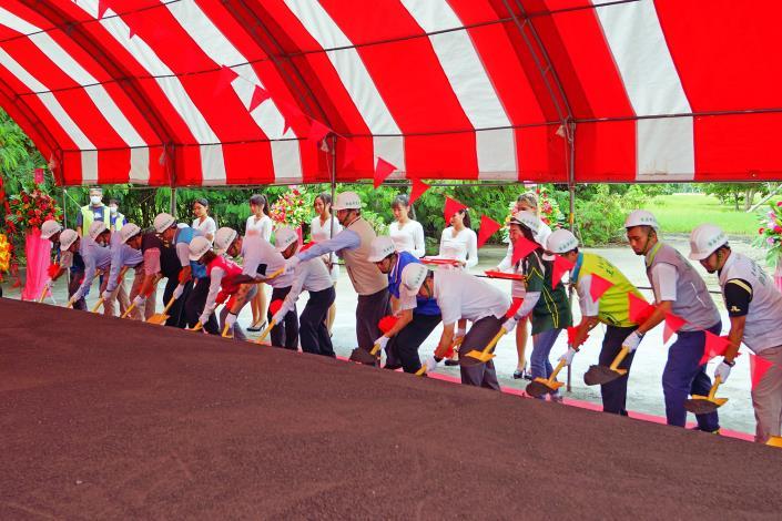 臺南亞太國際棒球訓練中心統包二期工程動土