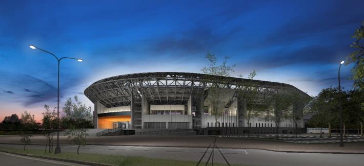 主球場夜景模擬圖