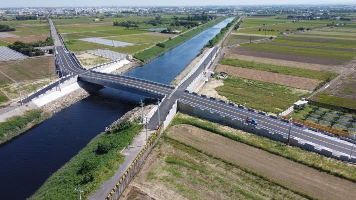 麻豆排水黑橋改建工程完成-空拍照