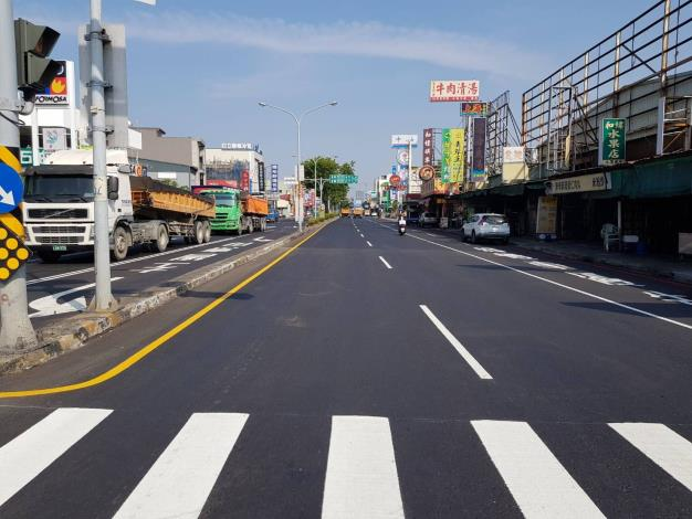 中華北路和緯路口路平後
