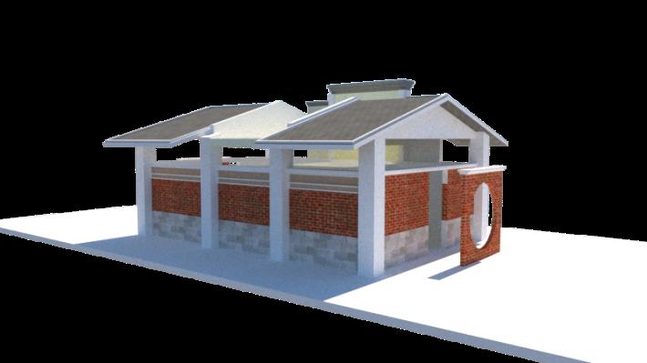 合作興建特色公廁-預視圖側面