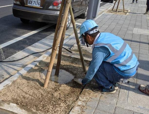 公私協力植樹打造綠環境