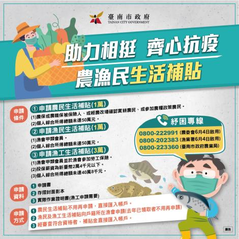 助力相挺  齊心抗疫 農漁民生活補貼 圖卡