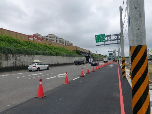 第一階段交流道東側改善方案7月22日完成通車