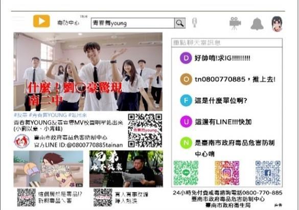 臺南市政府毒品危害防制中心 「反毒健康列車」宣導海報