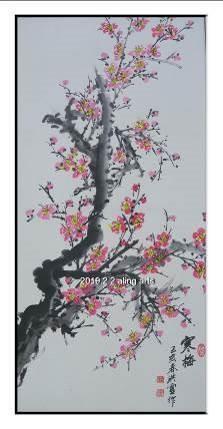 洪靈水墨畫個展-民治市政中心-01-寒梅-梅