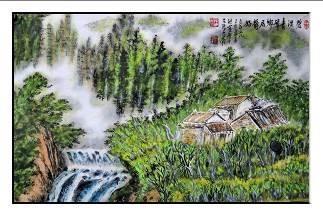 洪靈水墨畫個展-民治市政中心-11-碧溪青草-山水