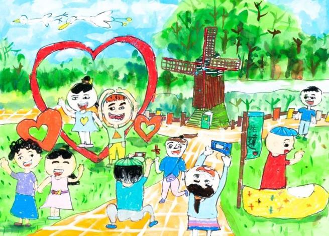 臺南市政府雙市政中心藝文展:第35屆生達盃兒童寫生作品聯展(民治市政中心發布)