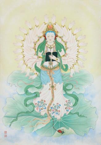 張德怡佛畫師生聯展-07-增智慧菩薩