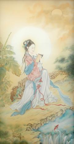 張德怡佛畫師生聯展-05-魚藍觀音